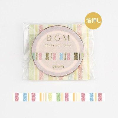画像1: BGM Life 箔押し 5mm レインボークレヨン